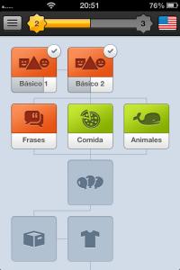 Progreso de inglés con Duolingo